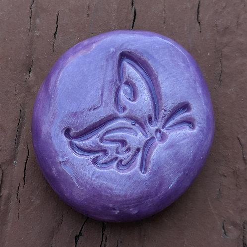 BUTTERFLY Pocket Stone - Amethyst Purple