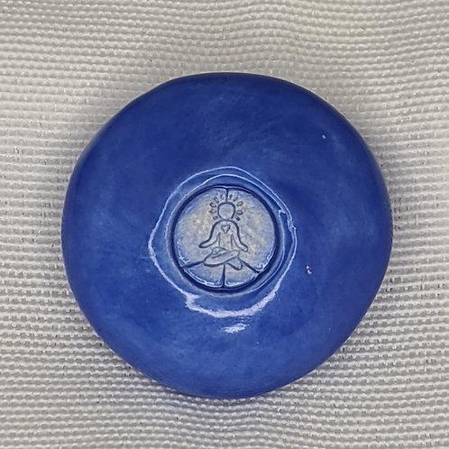 INNER ART PEACE logo Pocket Stone - Medium Blue