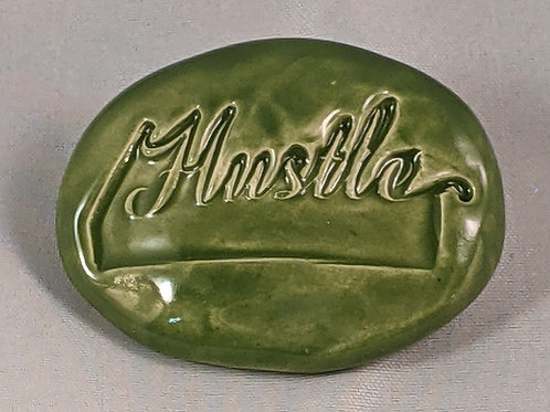 HUSTLE Pocket Stone - Emerald Green