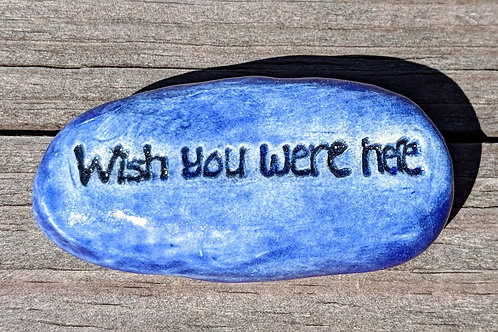WISH YOU WERE HERE Pocket Stone - Exotic Blue