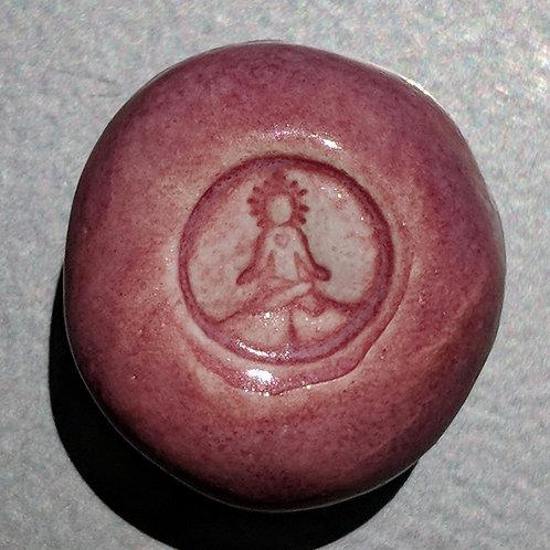 INNER ART PEACE logo Magnet - Fuchsia Pink