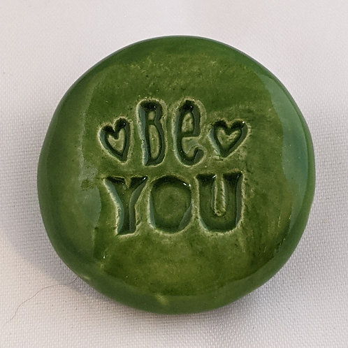 BE YOU Pocket Stone - Emerald Green