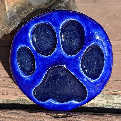 PAW PRINT Pocket Stone - Midnight Blue