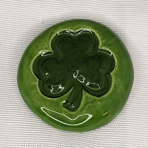 SHAMROCK Pocket Stone - Emerald Green