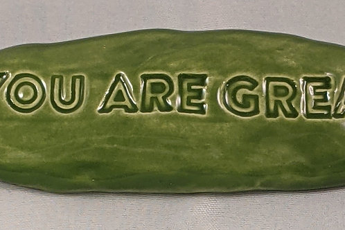 YOU ARE GREAT Pocket Stone - Emerald Green