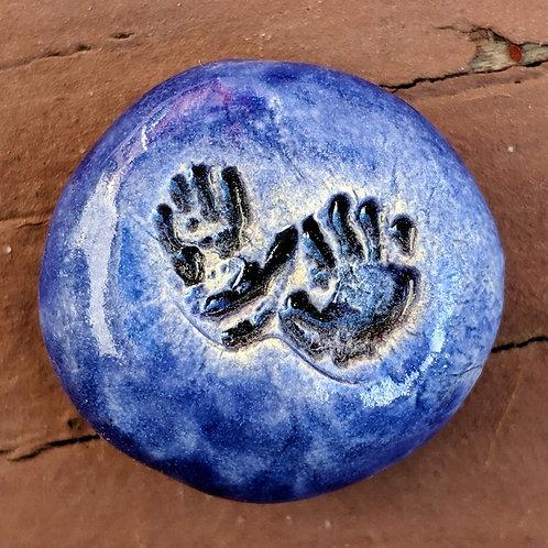 TINY HAND PRINTS Pocket Stone - Midnight Blue