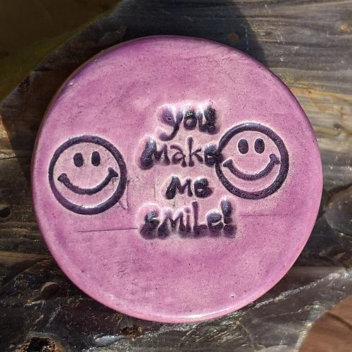 YOU MAKE ME SMILE! Magnet - Amethyst Purple