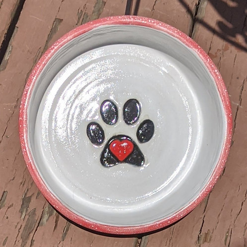 PET BOWL - Red Satin Matte