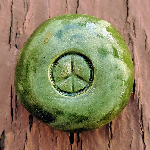 PEACE SIGN Pocket Stone - Kelp Forest Green