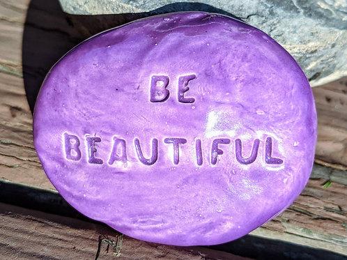 BE BEAUTIFUL Pocket Stone - Amethyst Purple