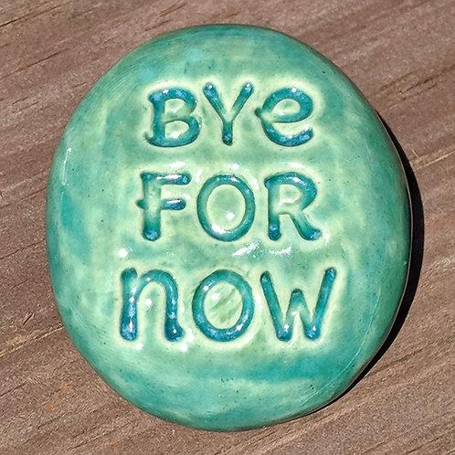 BYE FOR NOW Pocket Stones - Aquamarine