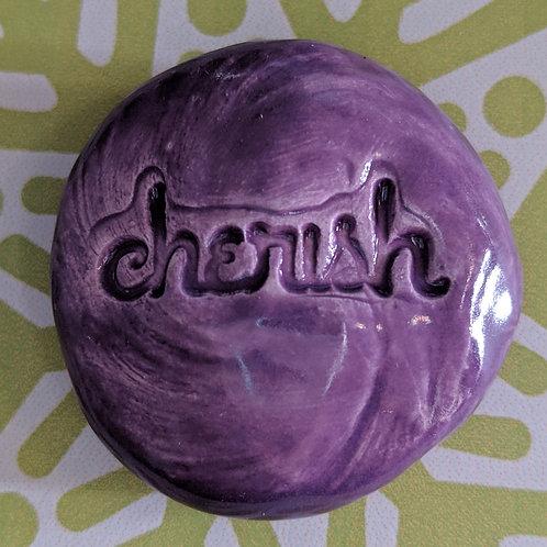 CHERISH Pocket Stone - Amethyst Purple