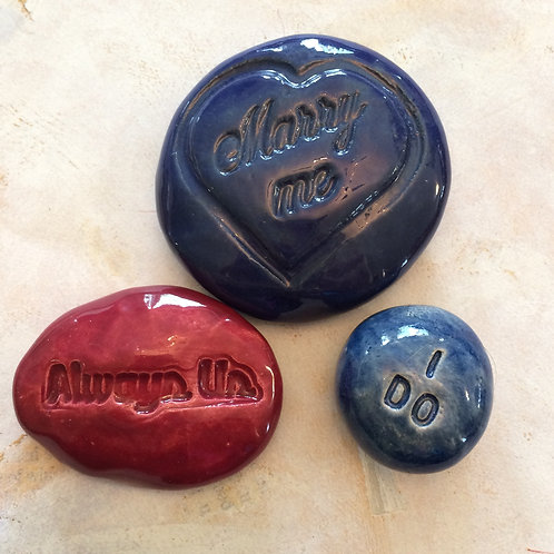 WEDDING / ENGAGEMENT  Pocket Stones - Marry Me - I Do - Always Us