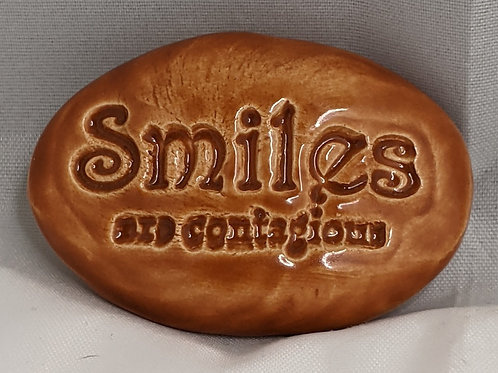 SMILES ARE CONTAGIOUS Pocket Stone - Butter Toffee