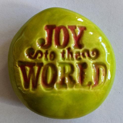 JOY TO THE WORLD  Pocket Stone - Granny Smith Green