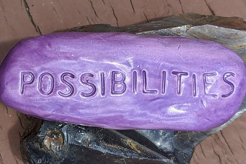 POSSIBILITIES Pocket Stone - Amethyst Purple