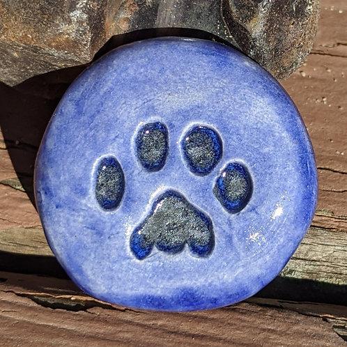 PAW PRINT Pocket Stone - Exotic Blue