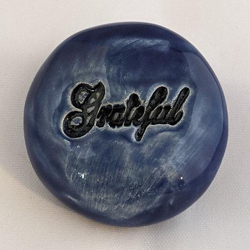 GRATEFUL Pocket Stone - Midnight Blue