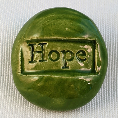 HOPE Pocket Stone - Emerald Green