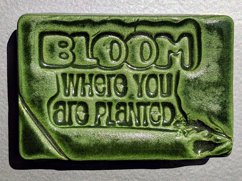 BLOOM WHERE YOU ARE PLANTED Magnet - Kelp Forest Green