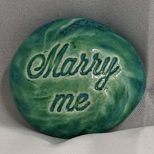 MARRY ME Pocket Stone - Aquamarine