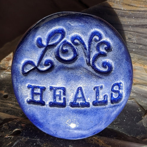LOVE HEALS Pocket Stone - Exotic Blue