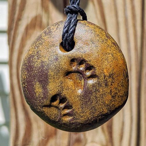 PAW PRINTS Necklace - Cast Iron