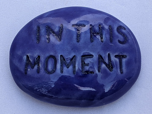 IN THIS MOMENT Pocket Stone - Vivid Blue
