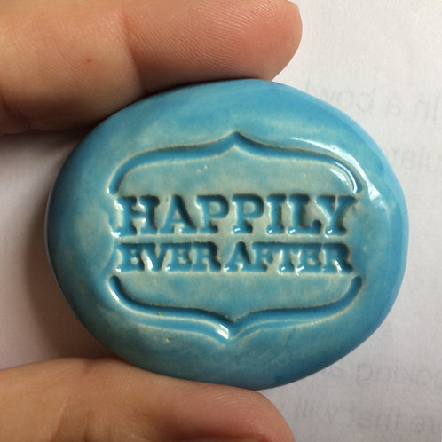 HAPPILY EVER AFTER Pocket Stone - Sky Blue