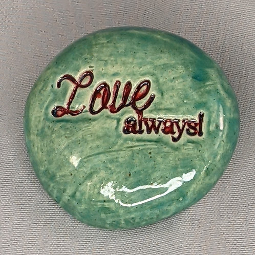 LOVE ALWAYS! Pocket Stone - Aquamarine