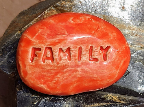 FAMILY Pocket Stone - Sunset Red
