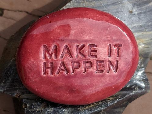 MAKE IT HAPPEN Pocket Stone - Raspberry Red