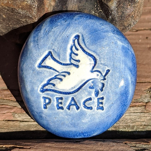 PEACE DOVE Pocket Stone - Sapphire Blue