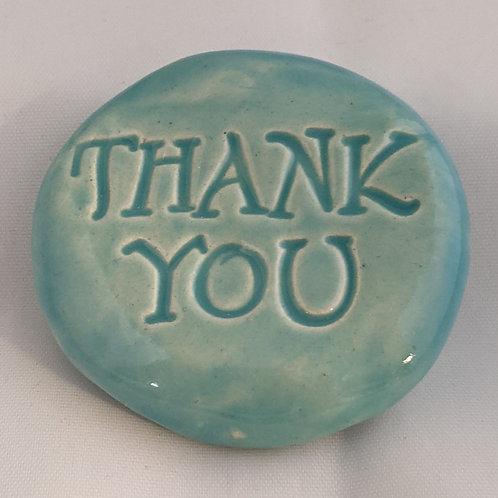 THANK YOU Pocket Stone - Aquamarine