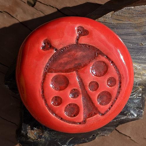 LADYBUG Pocket Stone - Fire Engine Red