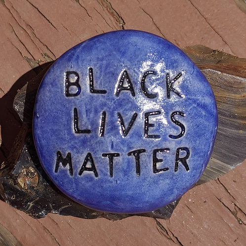 BLACK LIVES MATTER Pocket Stone - Exotic Blue