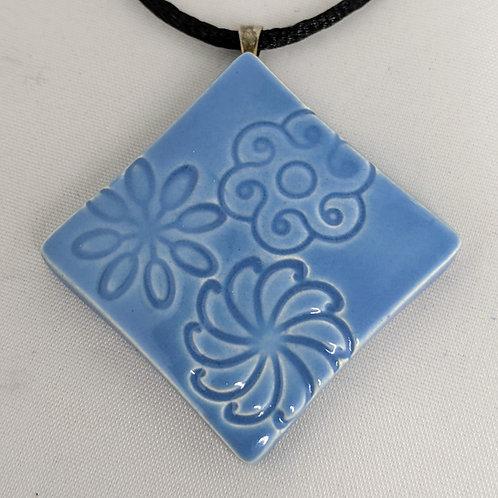 FLOWERS Pendant / Necklace - Sky Blue