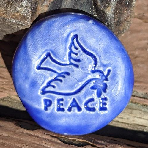 PEACE DOVE Pocket Stone - Vivid Blue