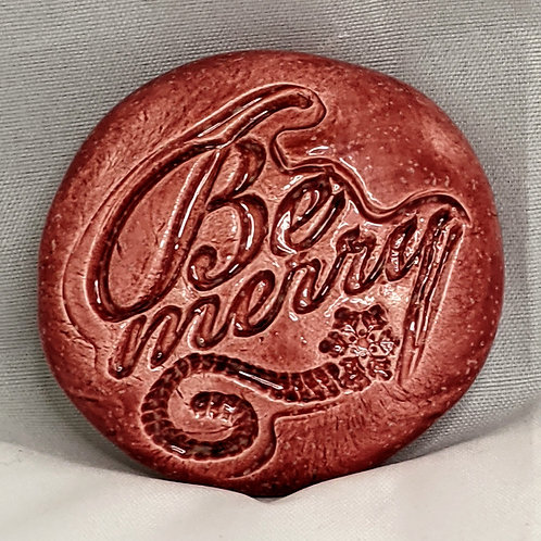 BE MERRY Pocket Stone - Sirocco Red