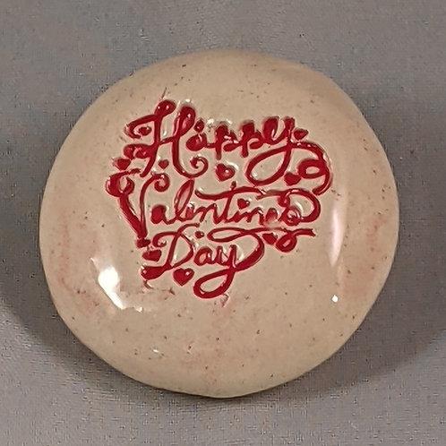 HAPPY VALENTINE'S DAY Pocket Stone - Red