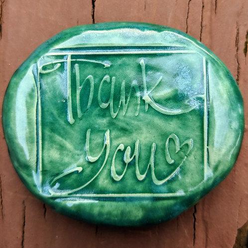 THANK YOU Pocket Stone - Turquoise