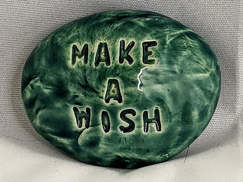 MAKE A WISH Pocket Stone - Turquoise
