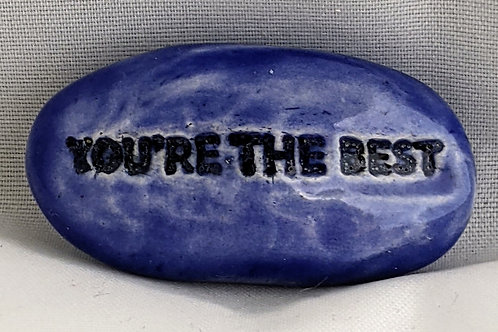YOU'RE THE BEST Pocket Stone - Sapphire Blue