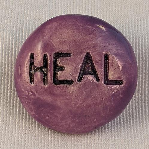 HEAL Pocket Stone - Amethyst Purple