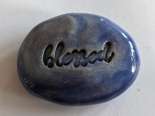 BLESSED Pocket Stone - Exotic Blue