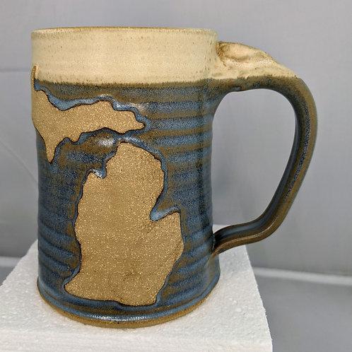 MICHIGAN Mug by TC Pottery Studio - BG Blue