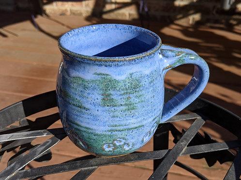 PAW PRINTS Mug by TC Pottery Studio - Indigo Float