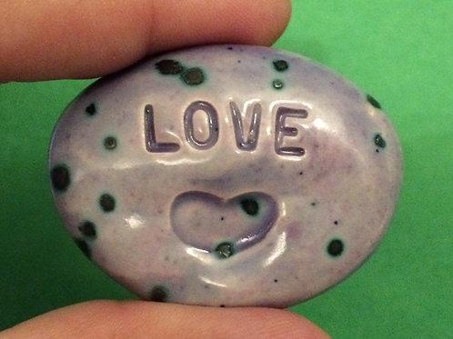 LOVE w/ HEART Pocket Stone - Purple Haze