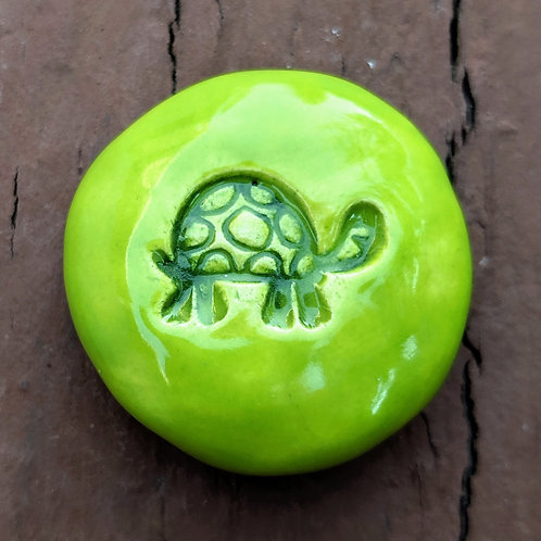 TURTLE Pocket Stone - Granny Smith Green