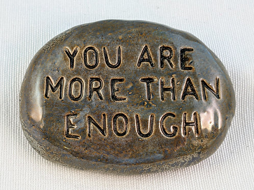 YOU ARE more than ENOUGH Pocket Stone - Antique Blue